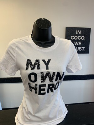 White - My Own Hero T-shirt