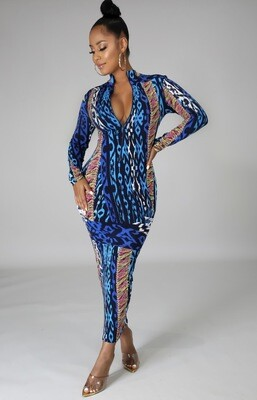 Blue Multi Dress