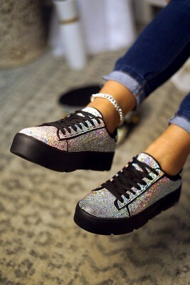 Shine - Black Rhinestone Sneaker