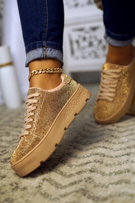 Shine - Rose Gold Rhinestone Sneaker