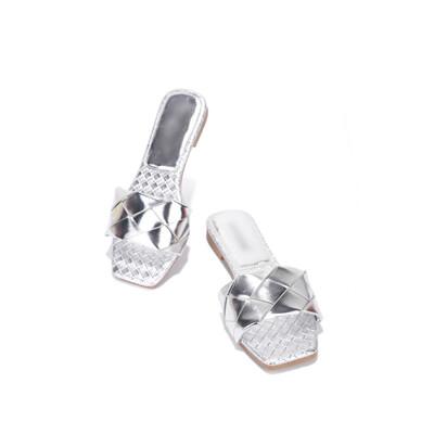 Sandy - Silver Mule Slide