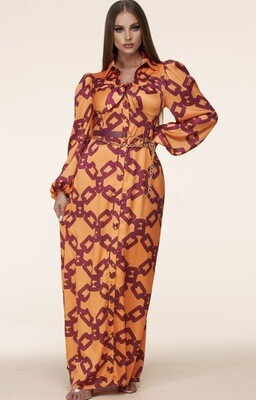 Orange Melody Maxi Dress