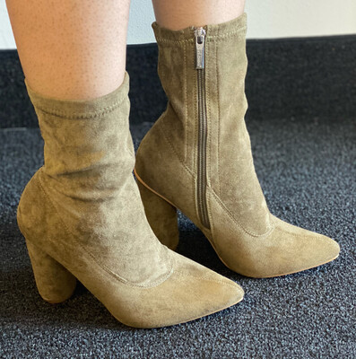 Charm - Olive Bootie