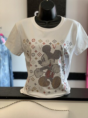 White Bling Mickey