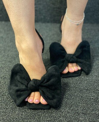 Chic - Black Sling Bow Shoe