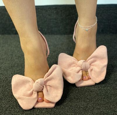 Chic - Blush Sling Bow Shoe