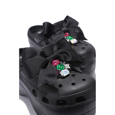 Black Bow Inspired Croc