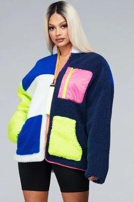 Cozy Color-block Jacket
