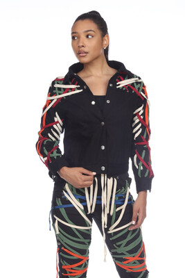 String Me Up Multi Basic Color Jacket