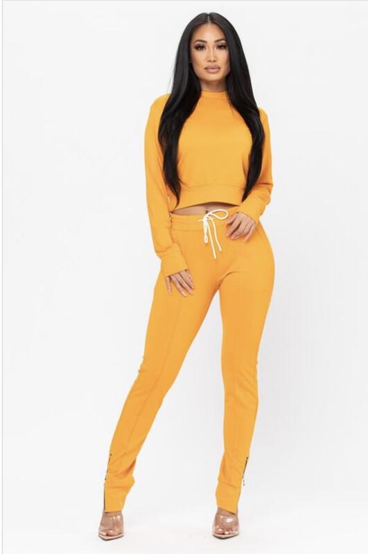 Bright Orange Jogger Set