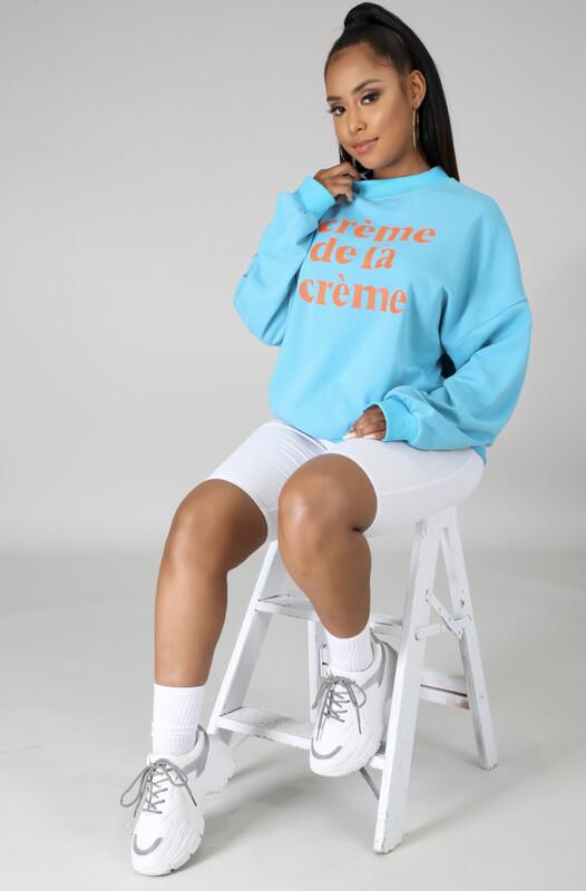 Blue Creme De La Creme Sweatshirt