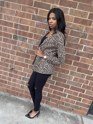 Leopard Heartbreaker Blazer