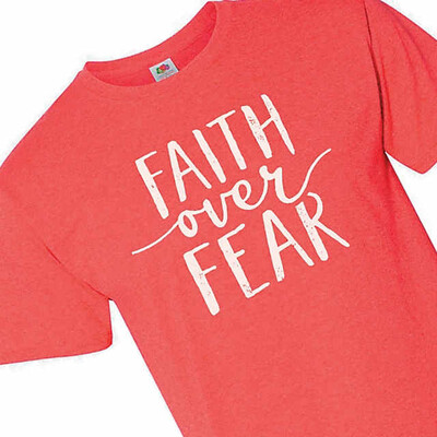 Red Faith Over Fear T-shirt