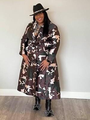 Camoflidge Coat Dress
