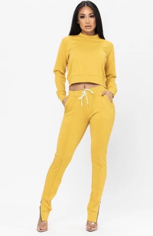 Mustard Jogger Set