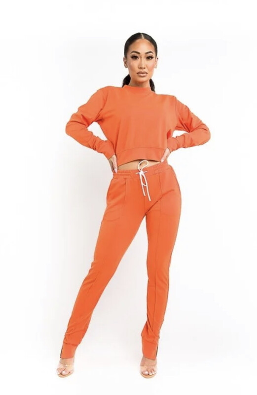 Orange Jogger Set