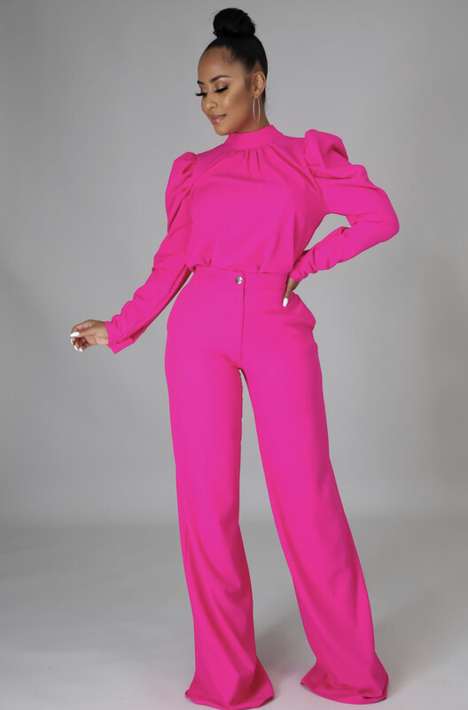 Pink High Profile Pant Set