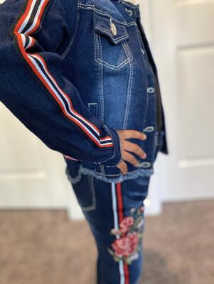Dark Denim Stripe Jeans