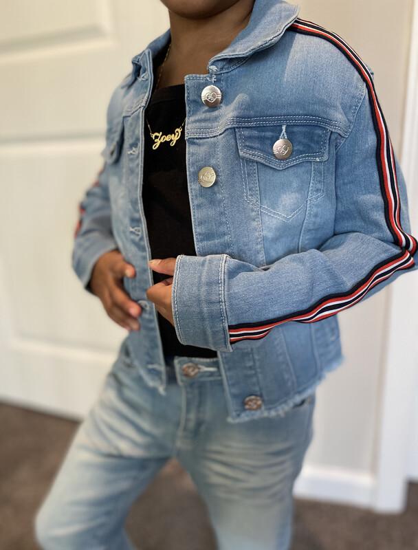 Light Denim Stripe Jeans