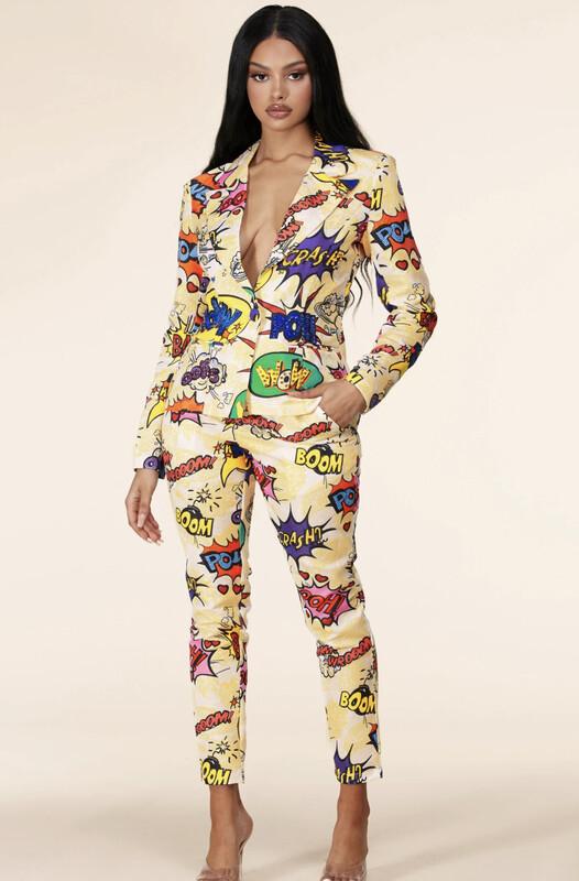 Art Pant Suit