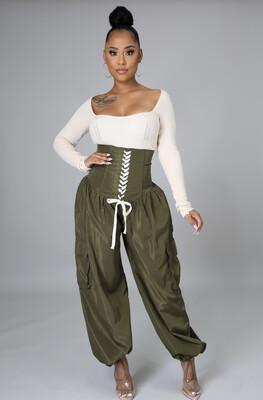 Olive Corset Pants