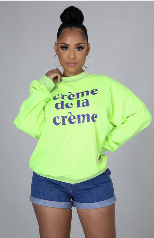 Green Creme De La Creme Sweatshirt