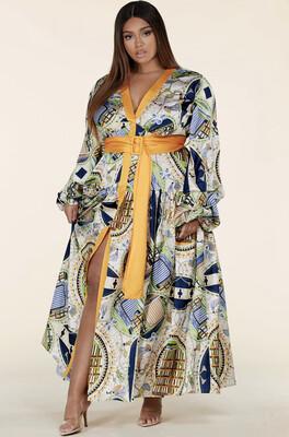 YELLOW / GREEN PAISLEY MAXI DRESS