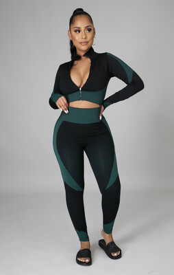 Green Two Toned Set