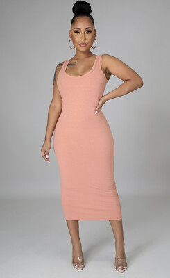 Blush Ribbed Dress