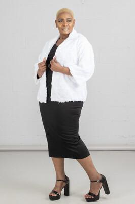 Black Scuba Pencil Skirt
