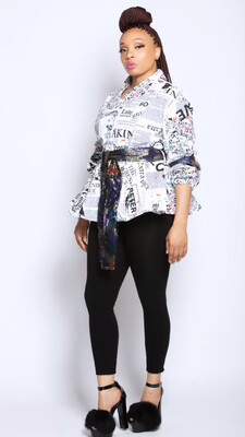 Newspaper Sequin Top / Jacket