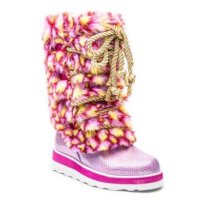 Iridescent Faux Fur - Boot