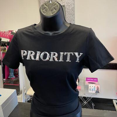 Priority Tee- Black