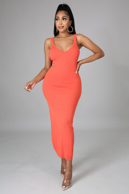 Orange - Cute And Comfy Dress