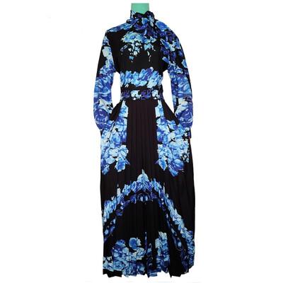 Black And Blue Floral Dress