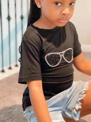 Black Diva Sunglasses T-shirt