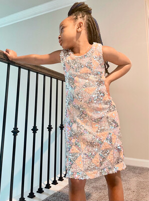 Blush And Silver Dress