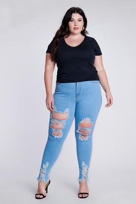 Light Distressed Jeans
