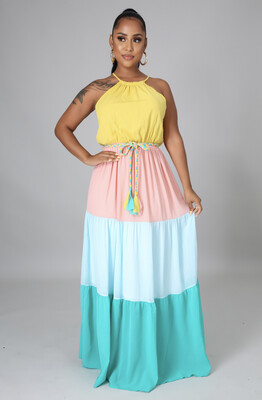 Multi Color Goddess Dress