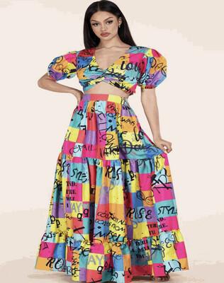 Colorful Artwork Skirt