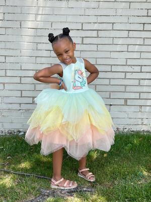 Unicorn Pastel Tulle Dress