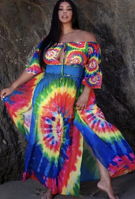 Tye Dye Multi Dress