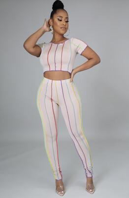 Multi Stripe Legging Set