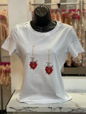 Double Heart C T-shirt