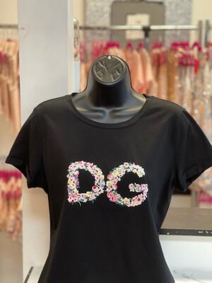 Floral DG T-Shirt - Black
