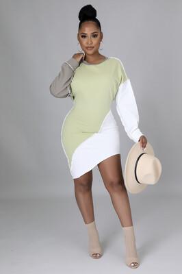 Sage Seamed Multi Dress / Top