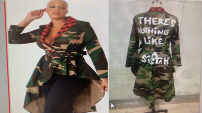 Nothing Like A Sistah Camo Gingham Top / Jacket