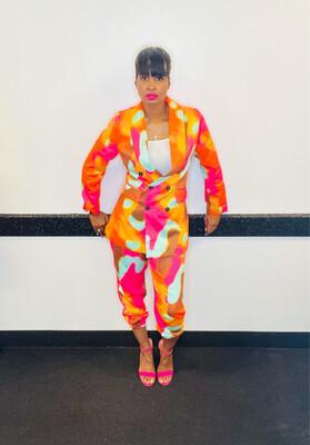 Pink Tye Dye Jogger Suit