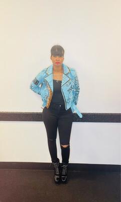 Blue Leopard Fashion Jacket