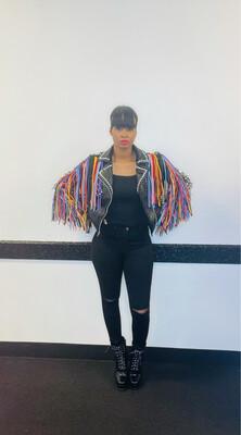 Multi Color Fringe Jacket